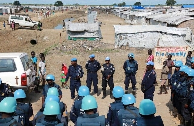 Ghanaian policemen on UN MIssion. Photo credit: Myjoyonline.com.
