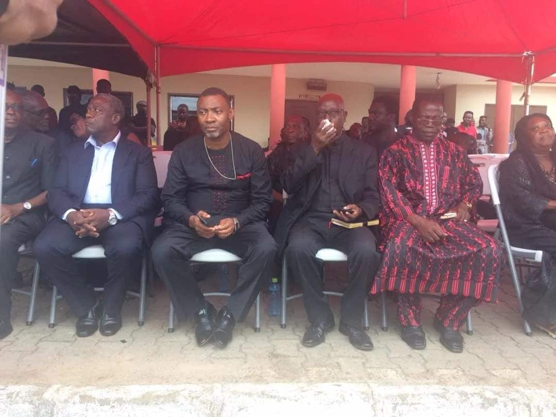 Dr. Lawrence Tetteh and others seated at Ebony's memorial service