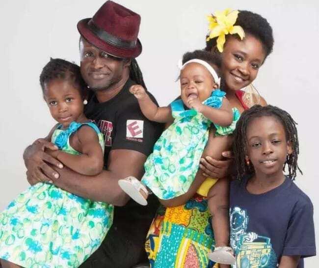 Reggie Rockstone with his family