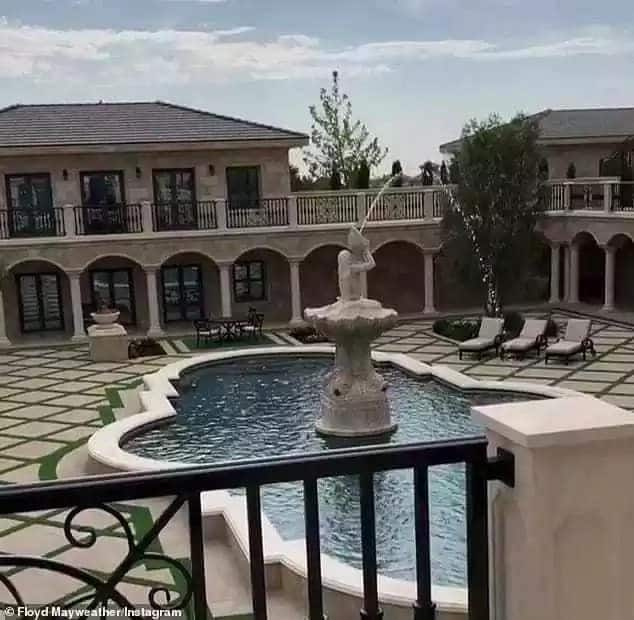 Floyd Mayweather shows off his new home in Los Angeles