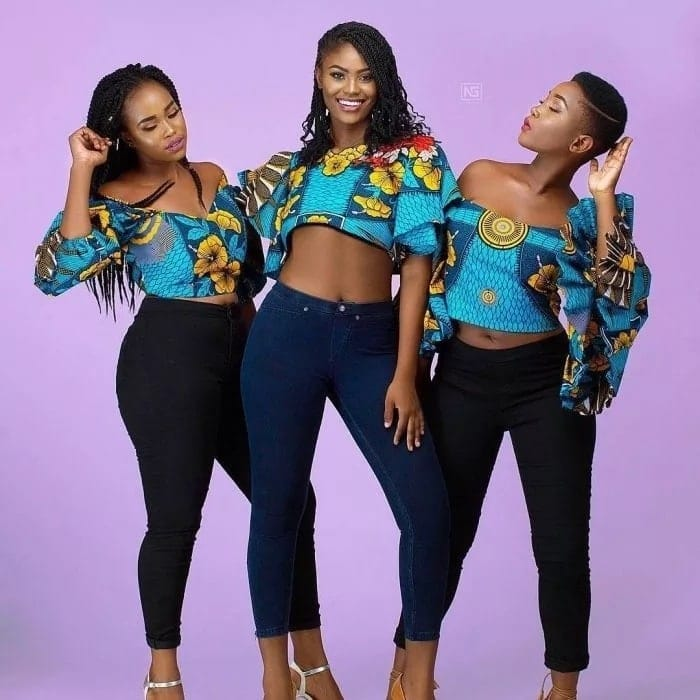 9ee1691c68084 15 Latest Ankara Crop Top Styles you Must Buy this Season ▷ YEN.COM.GH