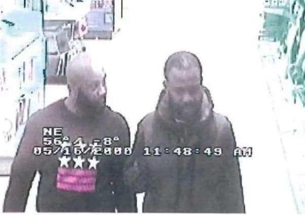 Two men captured on camera