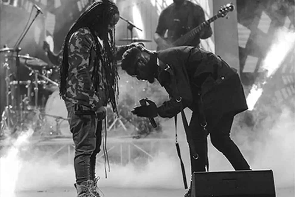 Sarkodie and Obrafour dispel beef rumours as they team up to perform 'Yaanom' at Rapperholic Concert