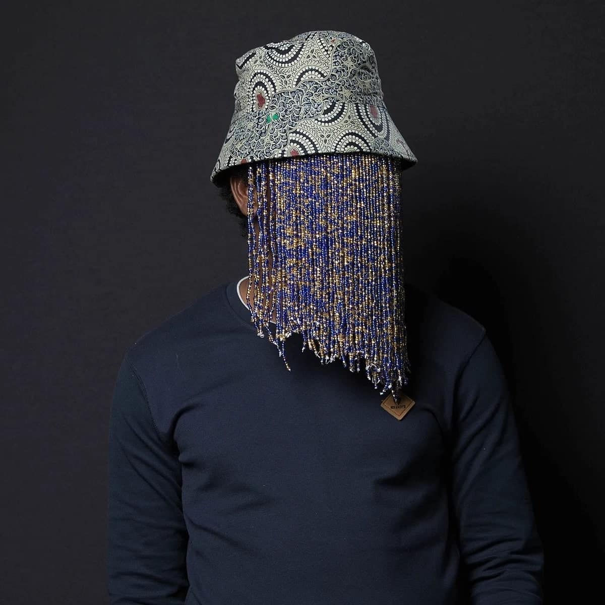 A man with a covered face