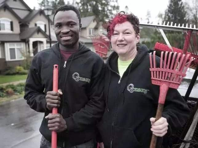 The Ghanaian chief who works as a gardener in Canada