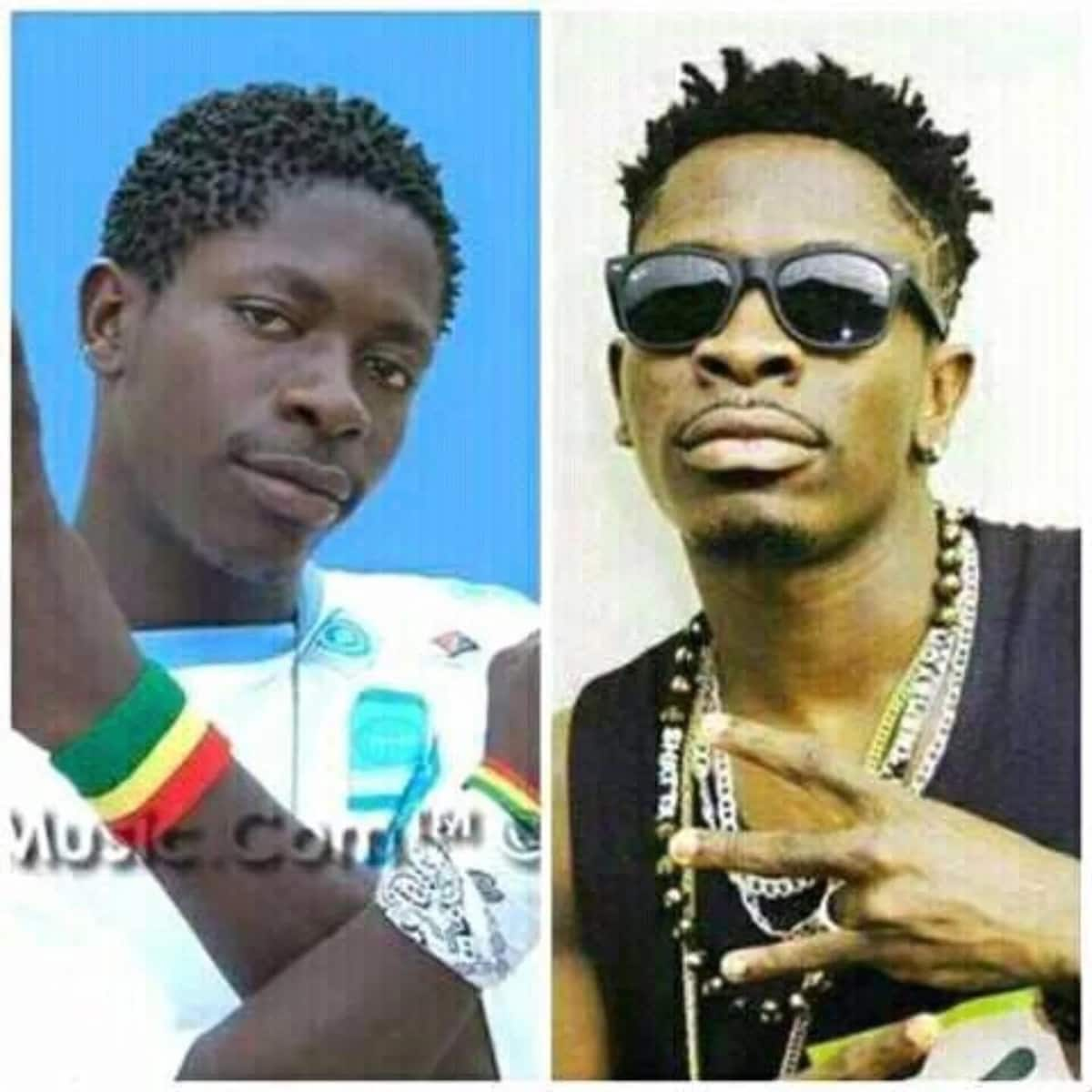 Social media users react to Shatta Wale's 'throwback' picture