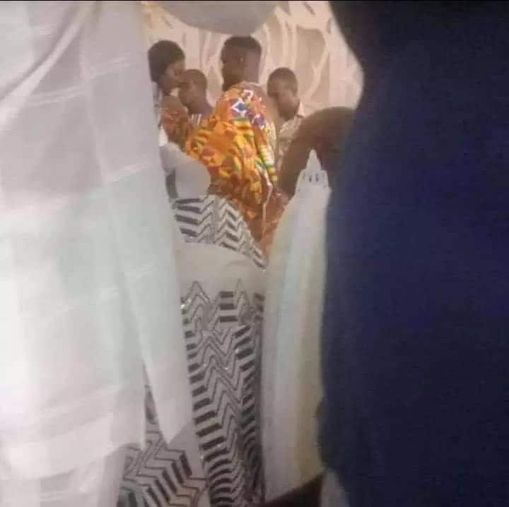 One of the leaked photos from Sarkodie's wedding taken with a mobile phone. Photo credit: Sourced
