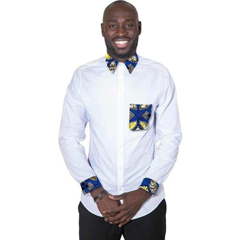 84bc33e591 mens african shirts designs men s african shirts ghanaian fashion styles  african print designs. Plain shirts are very common ...