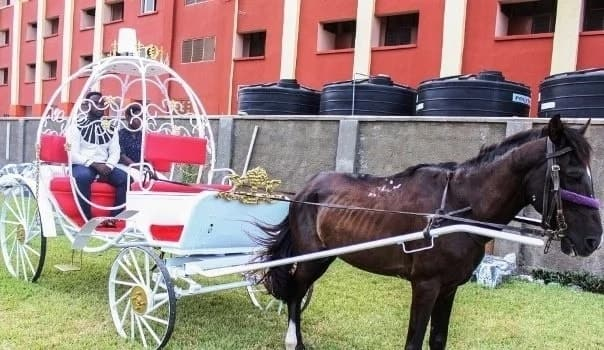 A wedding carriage