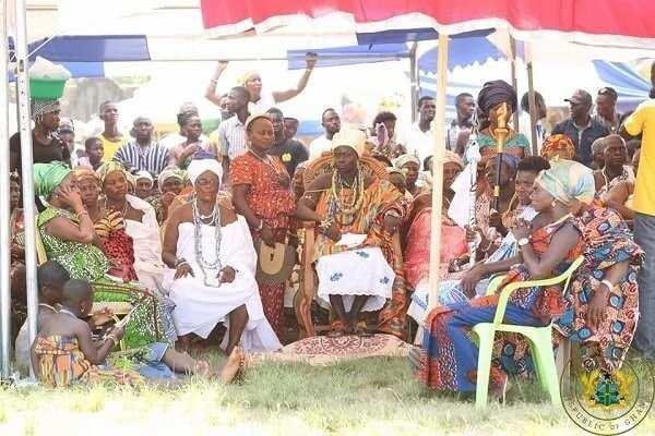 Akufo-Addo celebrates Ngmayem Festival with the people of Manya Krobo