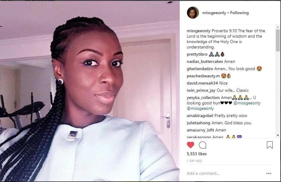 Miss Gee's post. Photo credit: Instagram