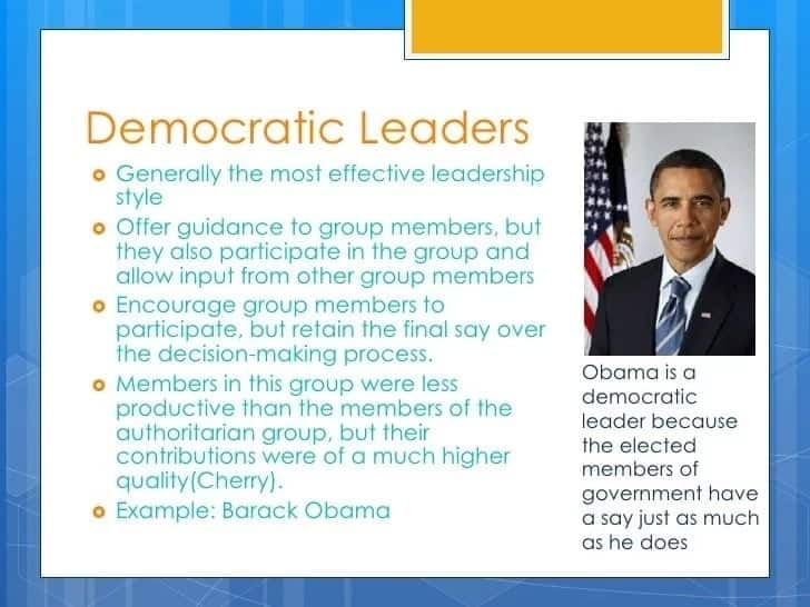 Qualities of a good democratic leader