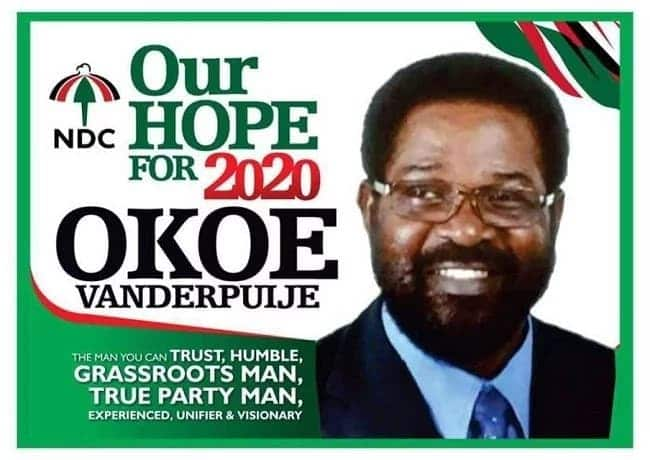Prof Alabi in NDC 2020 race; campaign posters pop up