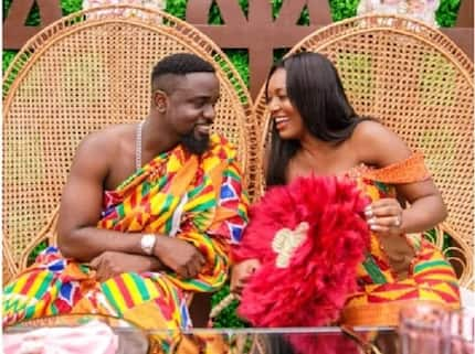 Tracy Sarkcess 'wins' 10-year-challenge' with interesting 'ancient' photos with Sarkodie