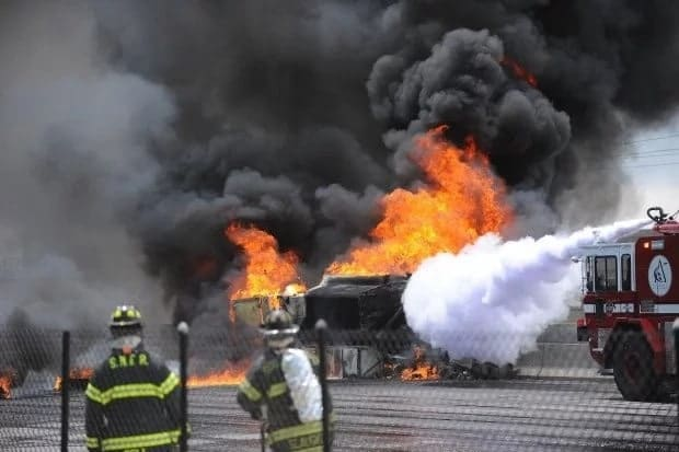 Fuel tanker catches fire at Weija (Video)