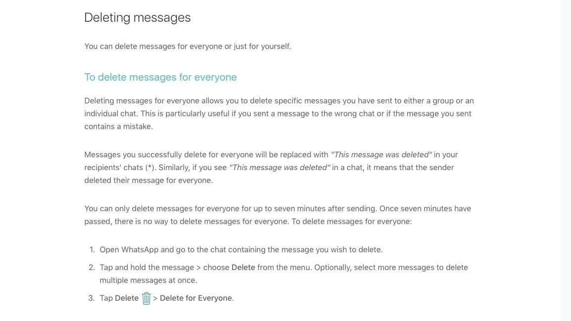 Here is how you can delete 'embarrassing and accidental' messages sent on WhatsApp