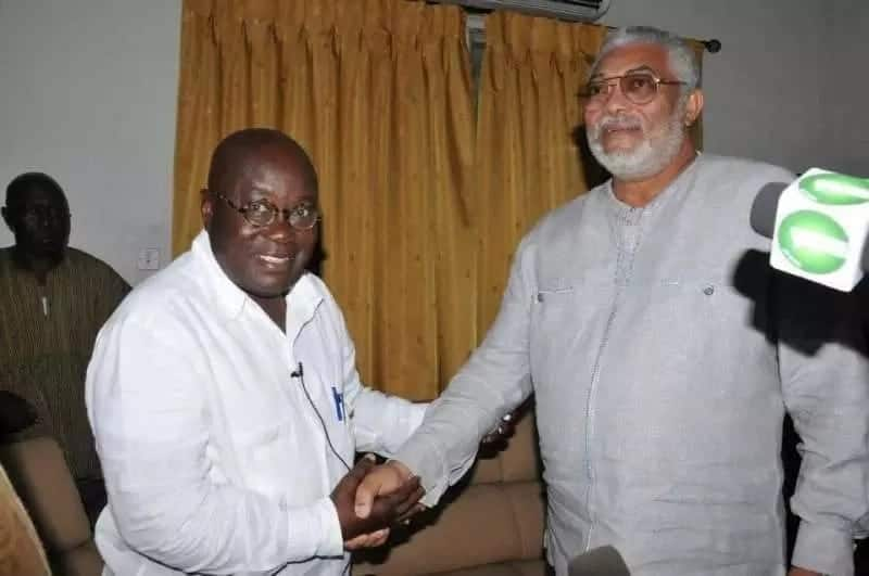 Jerry John Rawlings storms Flagstaff House with brilliant students to meet Nana Addo