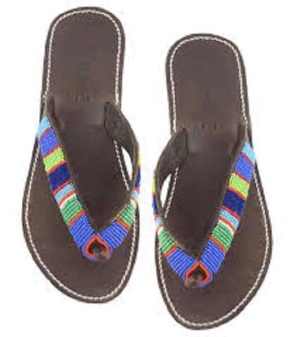 Best beaded slippers designs in Ghana
