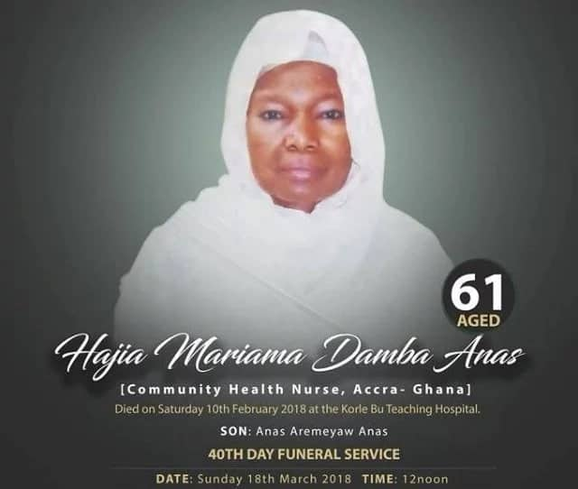Anas Aremeyaw to attend mum's funeral without mask