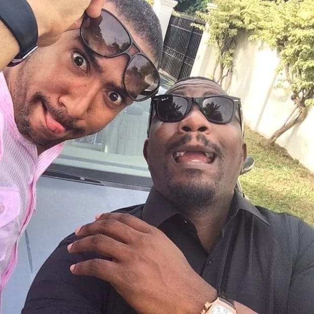 John Dumelo and Majid are such best friend goals