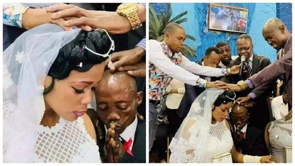 Bride looks so sad at her wedding. Some people think her husband is the reason (Photos)