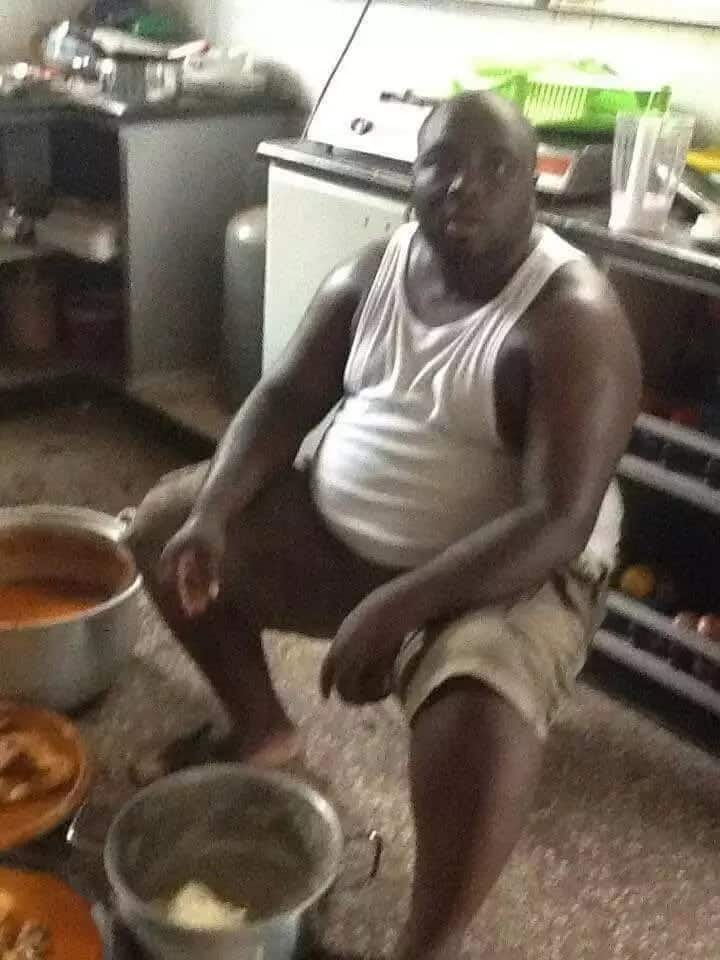 Throwback photos of KABA pounding fufu alone breaks hearts of Ghanaians