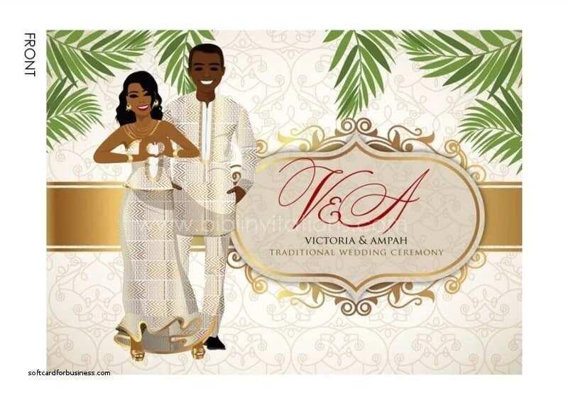 Traditional wedding cards designs Ghana