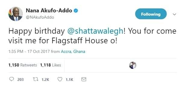 Did Akufo-Addo 'snub' John Mahama on his birthday by not talking about it like that of Shatta Wale's?