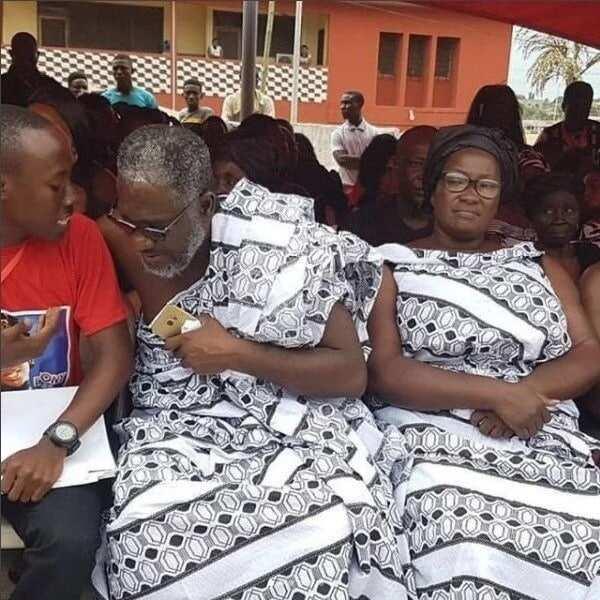 Ebony's mum was captured singing 'Maame Hw3' during one-week observance