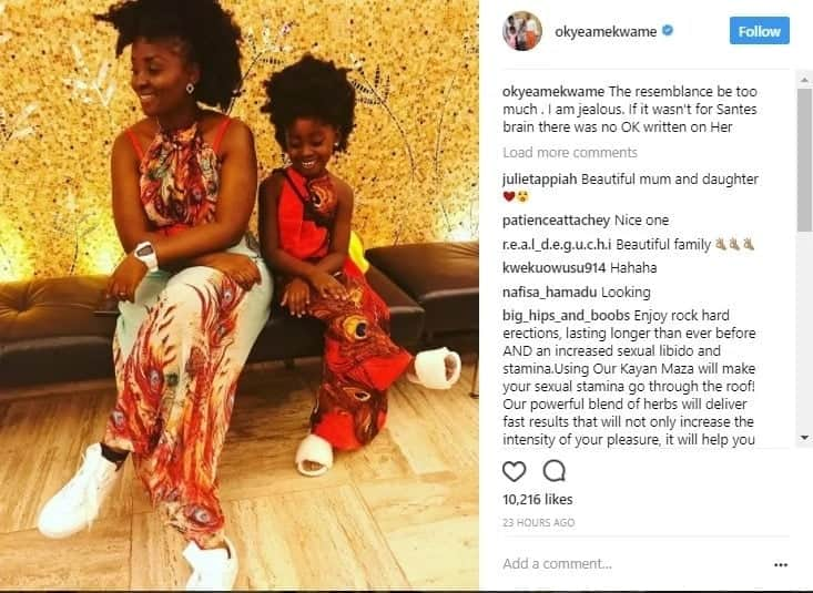 Okyeame Kwame's wife gives us mommy goals with this photo