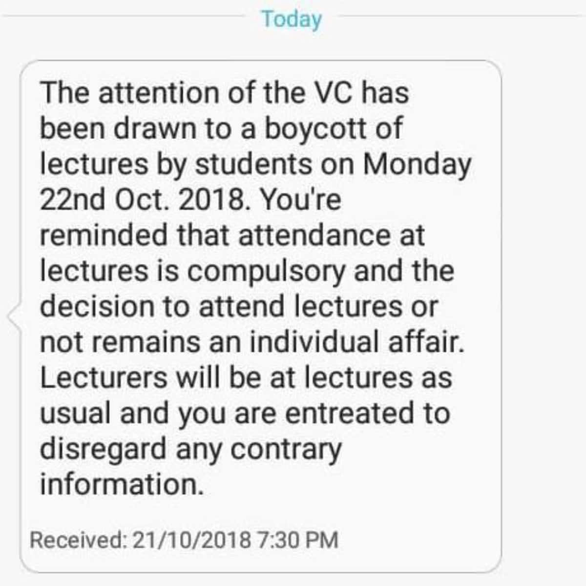 KNUST Vice Chancellor cautions students against planned demonstration