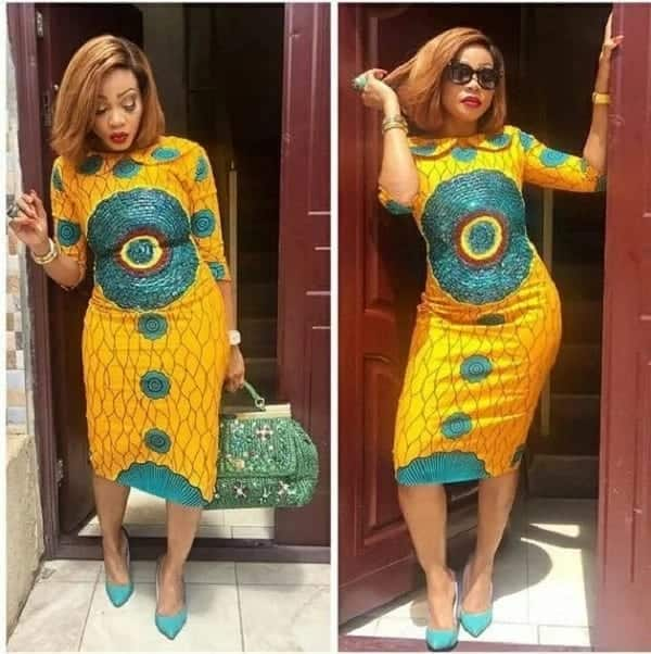 latest african dresses fashion insigts for Ghanaian women-midi dress
