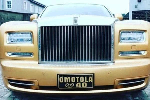 Omotola celebrates 40th birthday in golden Rolls Royce