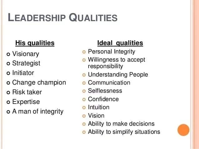 Qualities of a good leadership