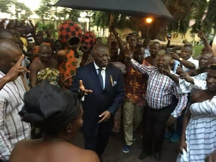 How Asanteman jumped and cheered to welcome the Asantehene back from Brazil