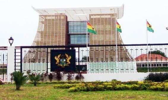 The official residence of the president of Ghana