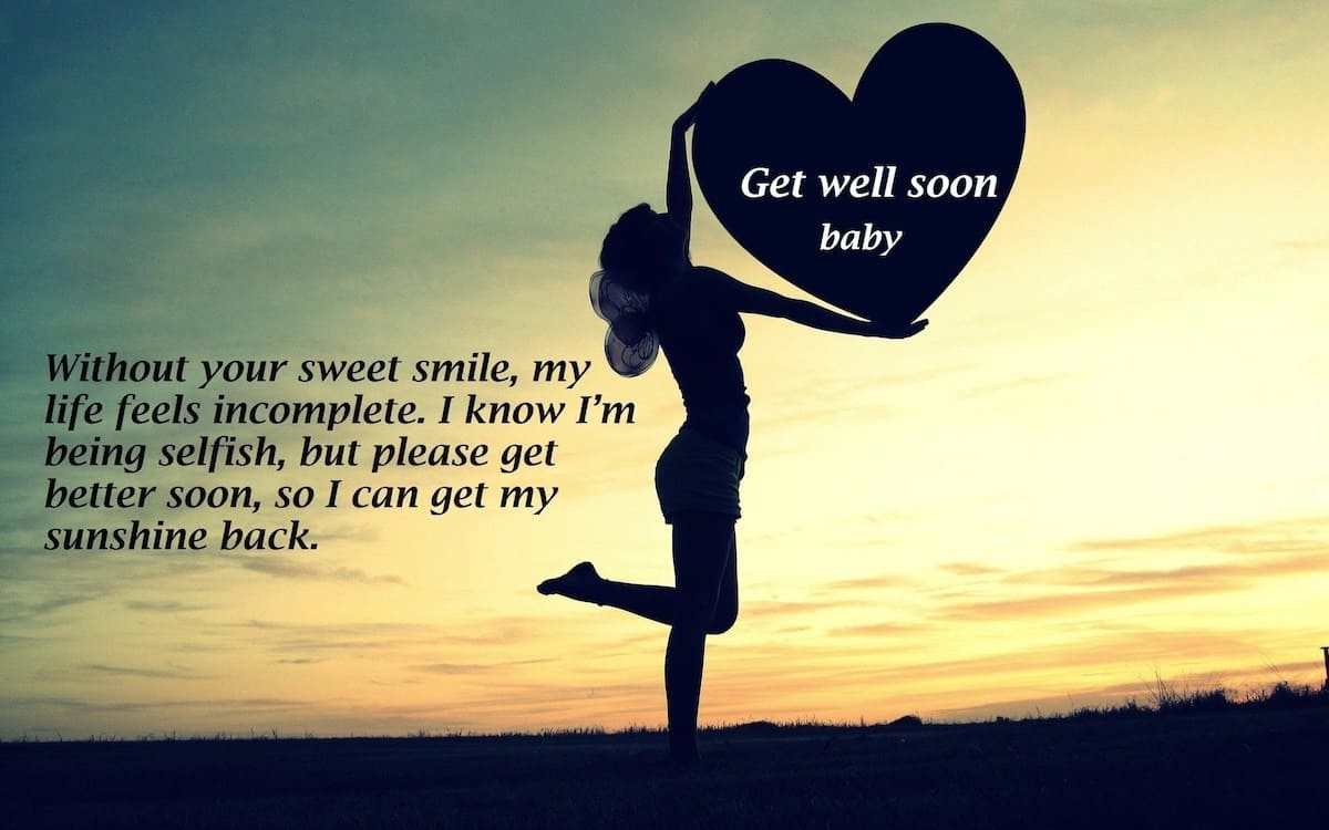hope you get better soon, wish you a quick recovery, wishes for sick person