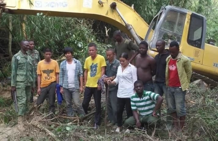 Five Chinese, three Ghanaians arrested for illegal mining in Bekwai