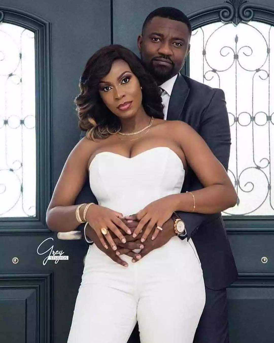 "Dumelo's wedding: Photos show John Dumelo and his new wife ""chopping"" love"