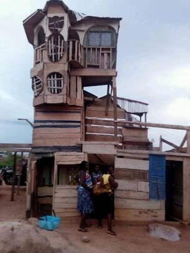 Meet the young Ghanaian boy who has built a mansion from wood