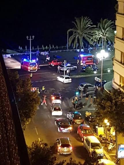 Photos: Truck runs into crowd killing dozens in Nice