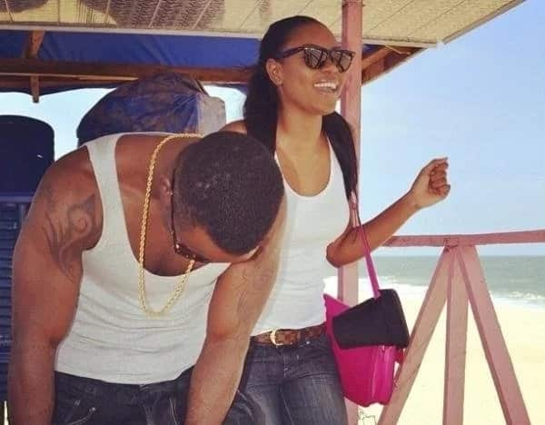 Happier times: Yvonne Nelson with Iyanya