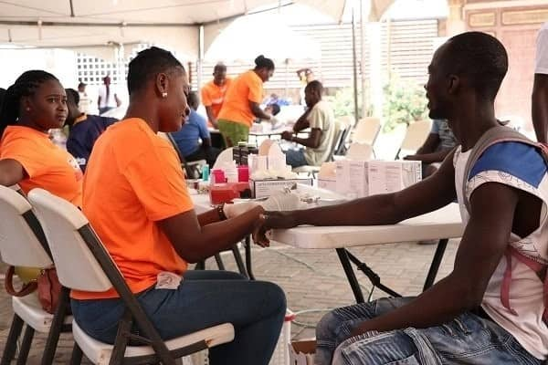 Hundreds donate towards TV Africa blood donation exercise