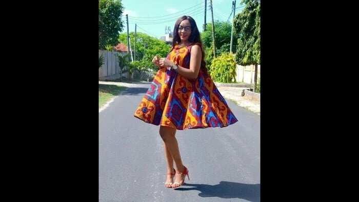 Pencil African skirt
