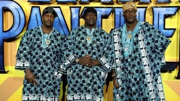 Stars and fans wear African attire during the Black Panther premiere