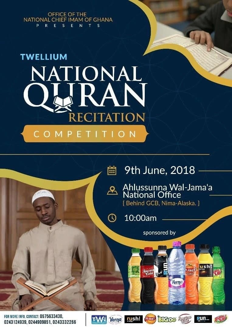 Twellium National Qur'an recitation finals set for saturday