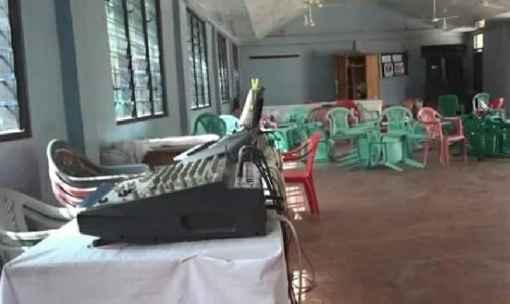 Robbers attack church during all night service