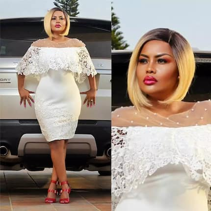 If you're dreaming of a white Christmas, it's probably Nana Ama Mcbrown's stunning dress
