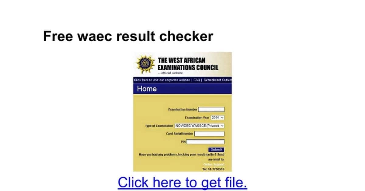 How to check WAEC result without scratch card.
