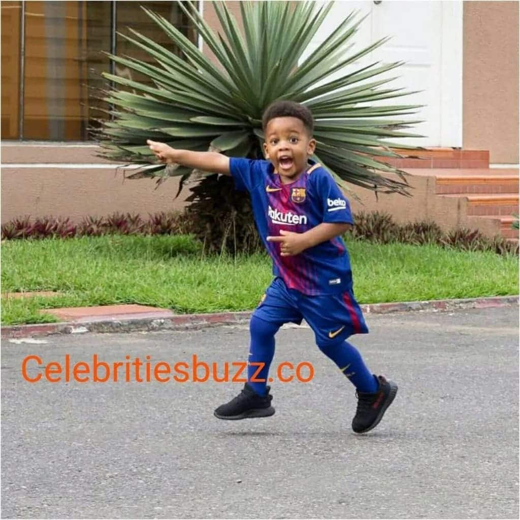 Photos: Sulley Muntari's son takes after his father in football